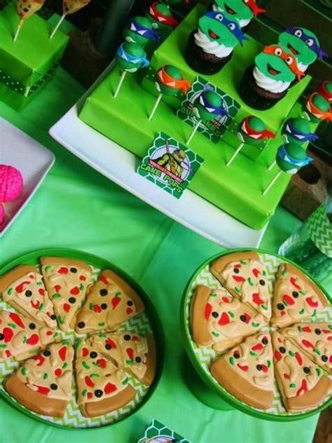 Ninja Turtle Decorations For Cakes by Ideas Para Fiesta De Las Tortugas Ninja Mutantes Adolescentes