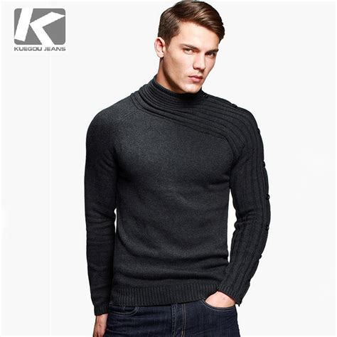 cool sweaters for guys kuegou brand sweater 100 cotton cool personality