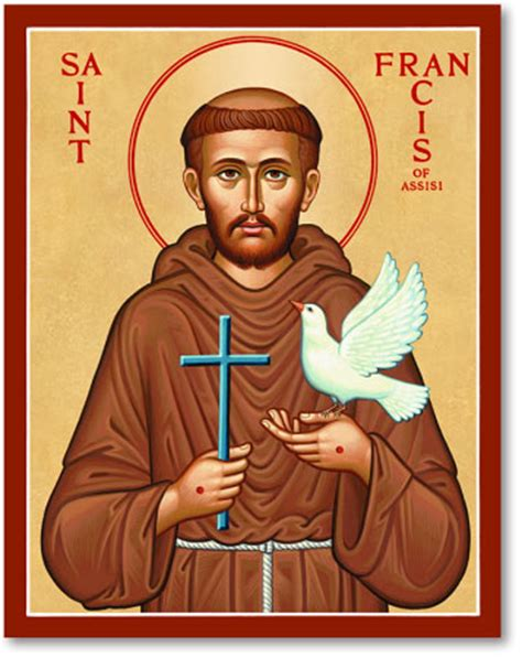 st francis of assisi icon icons st francis icon monastery icons