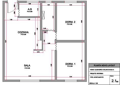 foto planta layout novo apartamento de tecnico em