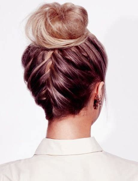 hair up plait styles pretty high bun for prom dose 5366
