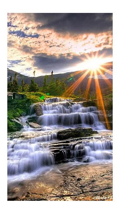 Nature Waterfall Animated Waterfalls Amazing Animation Gifs