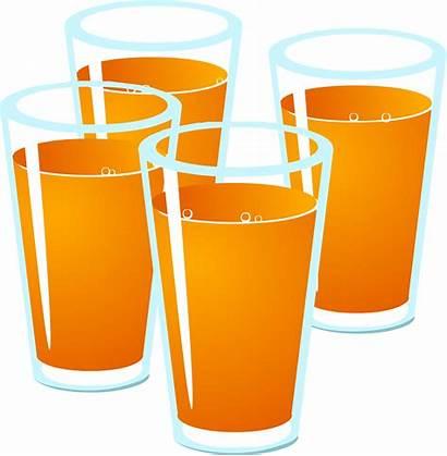 Juice Clipart Orange Drink Glass Glasses Clip