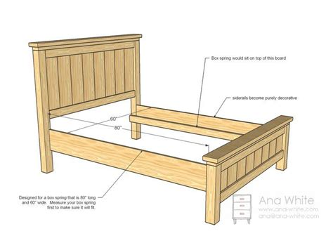 queen size bed headboard  footboard woodworking