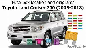 Fuse Box Location And Diagrams  Toyota Land Cruiser 200  2008-2018