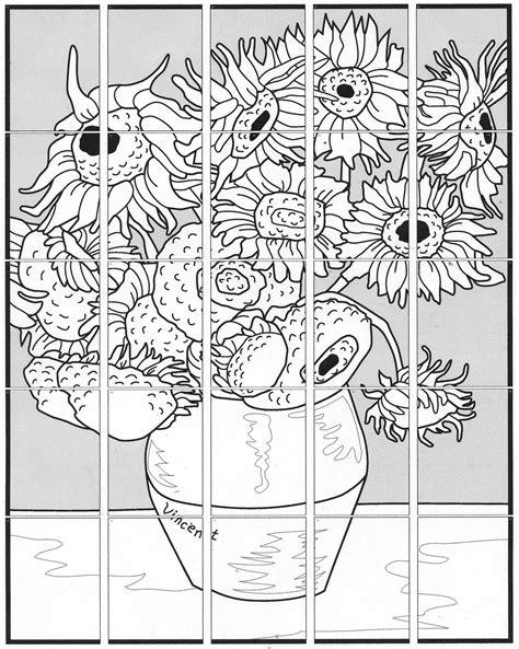 van gogh sunflower mural art projects  kids