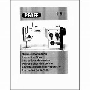 Instruction Manual  Pfaff 118   Sewing Parts Online