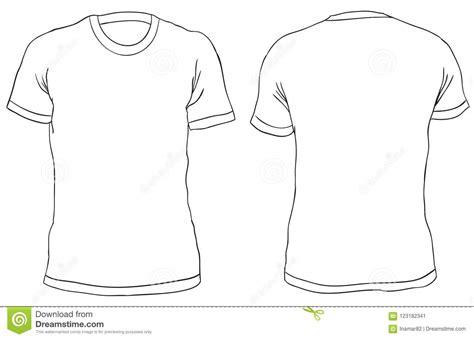 vector illustration blank  shirt front   views