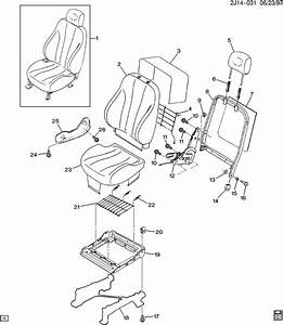 Recliner Front Seat Back Reclining Genuine Gm 16805452