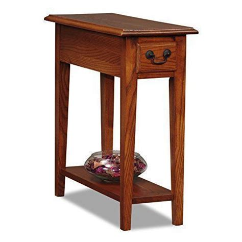 small  table chair sofa side narrow drawer shelf brown oak finish chairside ebay