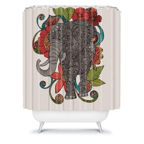 valentina ramos ruby the elephant shower curtain home