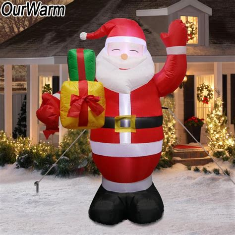 ourwarm inflatable santa claus outdoors christmas