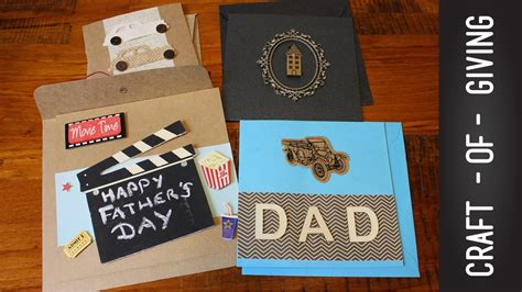 easy handmade fathers day card ideas craft  giving