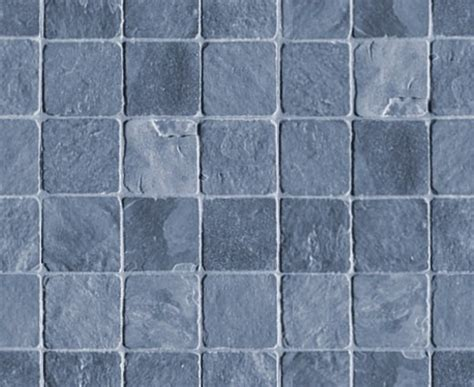 Blue Gray Stone Tile Background Seamless Background Or