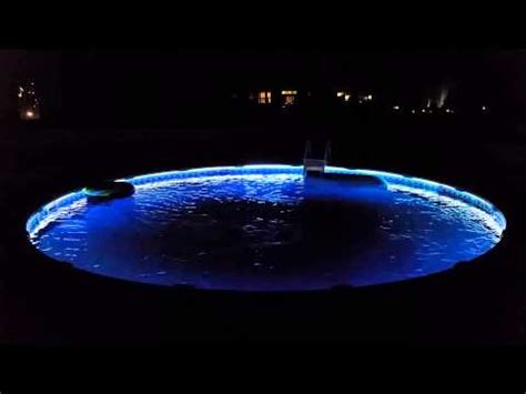 changing pool light above ground color changing pool lights