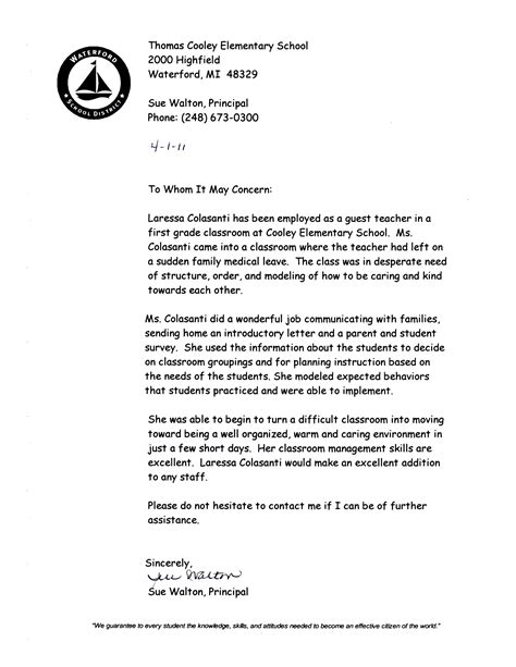4th grade teacher welcome letter parents