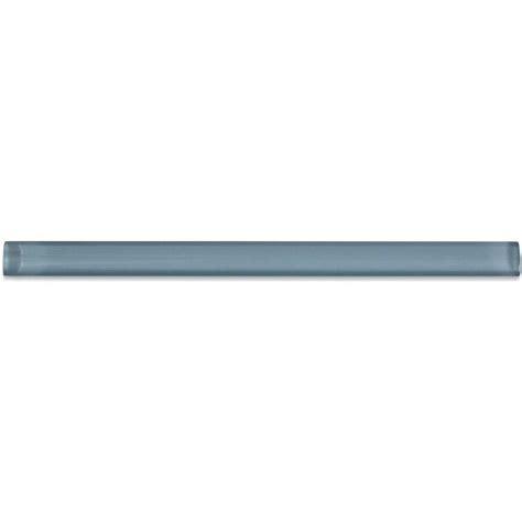 splashback tile light blue gray glass pencil liner trim
