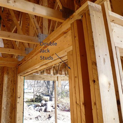 double jack studs framing construction shed