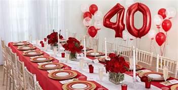 40th birthday decorations canada 40th wedding anniversary decorations canada mini bridal