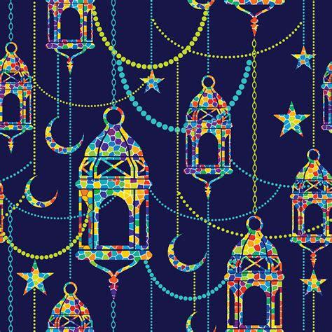ramadan background vector seamless pattern