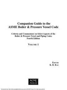 Companion Guide to the ASME Boiler & Pressure Vessel Code