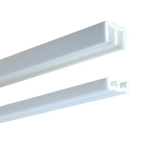 Plastic Sliding Cabinet Door Track by Knape Vogt 2417 Series 72 In White Plastic Door Track