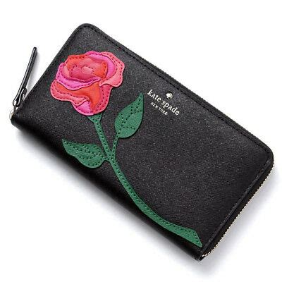 kate spade red rose colored glasses floral applique lacey wallet nwt rare  ebay