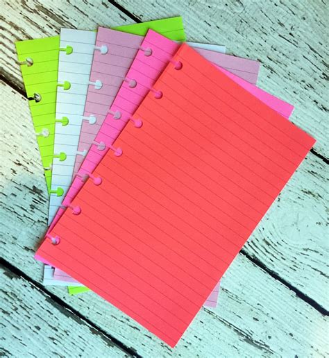 Classic Home Punched Style by Disc Punched Planner Paper Fits Happy Planner Or