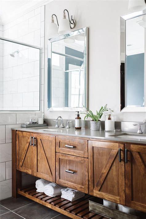 54 Gorgeous Farmhouse Master Bathroom Decorating Ideas