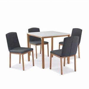 Table Avec 4 Chaises : table carr e 4 chaises scandinave achat vente table a manger complet table carr e 4 ~ Teatrodelosmanantiales.com Idées de Décoration
