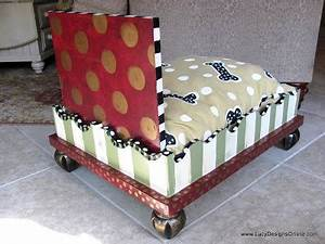 hand painted dog bed from an end table with hand painted With whimsical dog beds