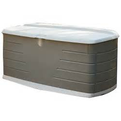 awardpedia rubbermaid 5f22 large deck box with seat