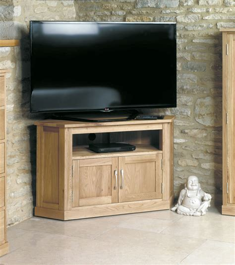 Mobel Oak Corner Television Cabinet Was £410.00 Now £314