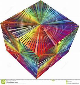 3d Cube In Rainbow Colors Stock Images