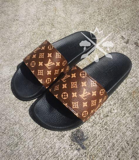 designer slide sandals louis vuitton luxury designer lv custom slides sandals flip