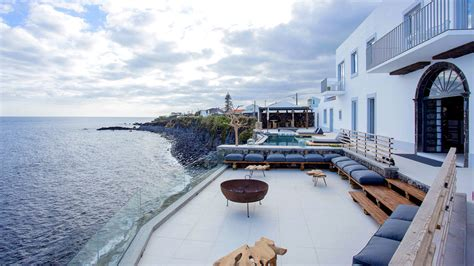 white hotel   chic  getaway  portugals azores