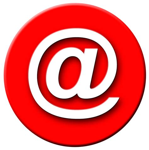 Red, email, mail logo png #1106 - Free Transparent PNG Logos