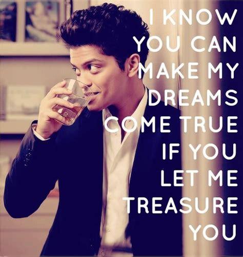 celebrity quoteslyrics   treasure  bruno mars