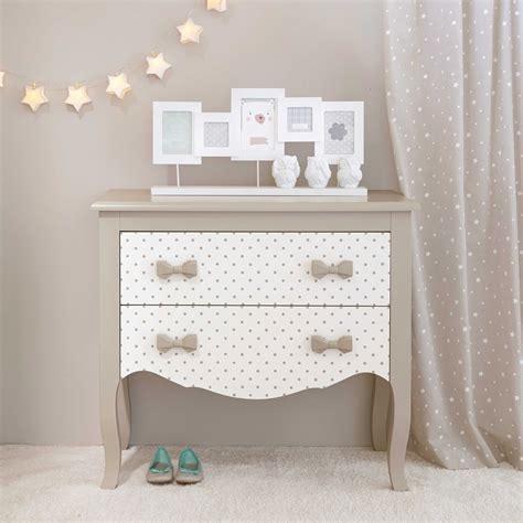 commode enfant en bois blanchetaupe   cm coquette maisons du monde kids bedroom