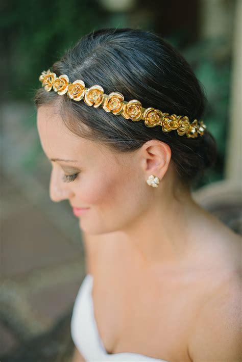 Metallic Floral Headpiece
