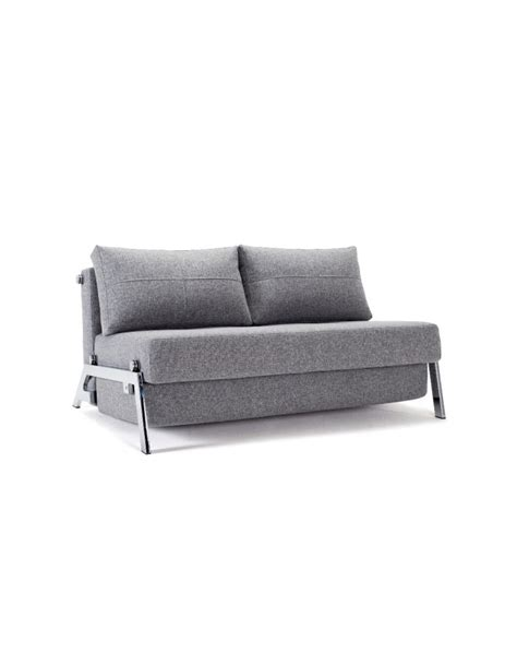 innovation futon innovation cubed chrome 140 sofa bed compact comfort uk