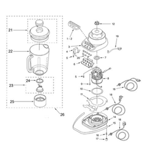 Kitchen Blender Parts by Kitchenaid Ksb5 Blender Diagram Parts Kitchenaid Blender