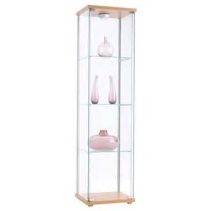 detolf glass door cabinet beech effect