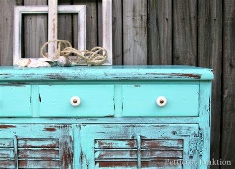 beach turquoise furniture makeover