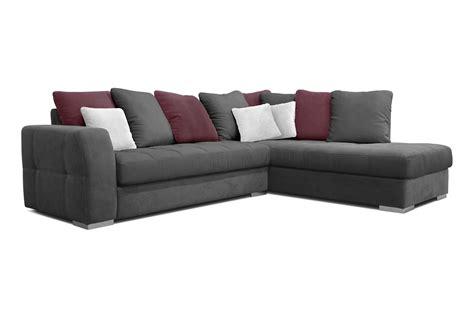 canapé gris tissu acheter votre canapé d 39 angle en tissus gris blanc et bleu