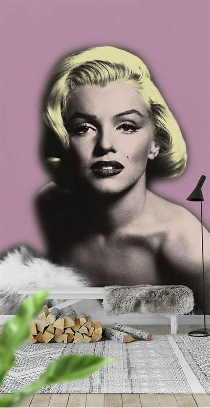 Monroe Marilyn Mural Wallpapers