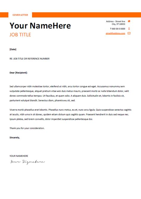 clean  simple cover letter template  word docx