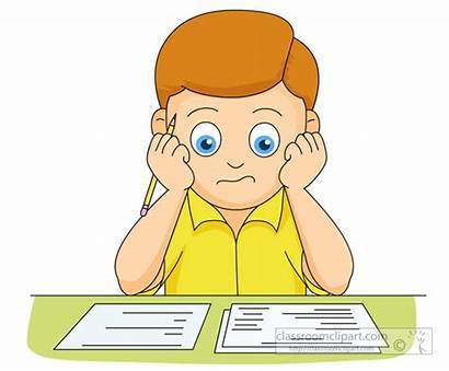 Clipart Studying Exam Boy Wondering Final He