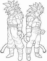 Coloring Pages Super Saiyan Goten Dragon Ball Goku Cartoon sketch template