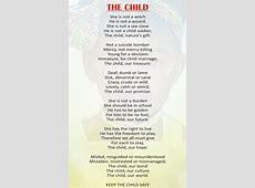 POEM – THE CHILD Duchess International Magazine